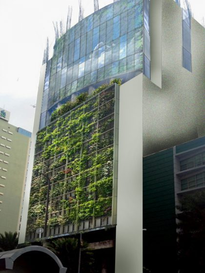 Proposed vertical indoor farm transformation of abandoned buildings