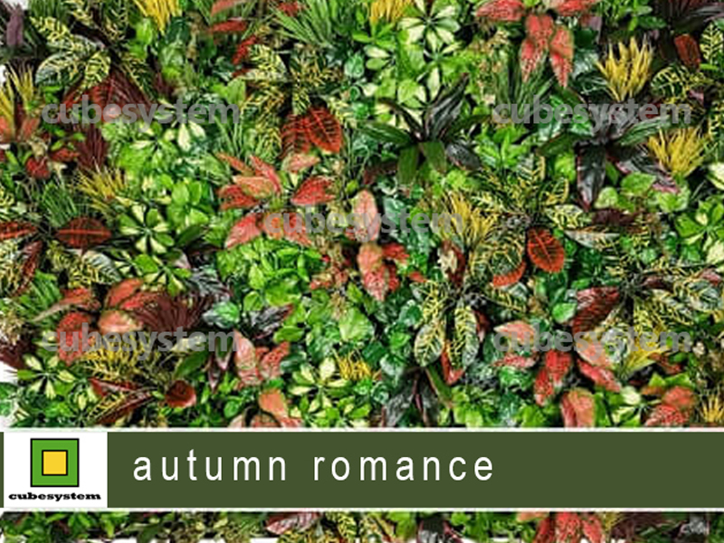 ARTIFICIAL GREENWALL AUTUMN ROMANCE BY CUBESYSTEM 1 - Artificial Green Wall
