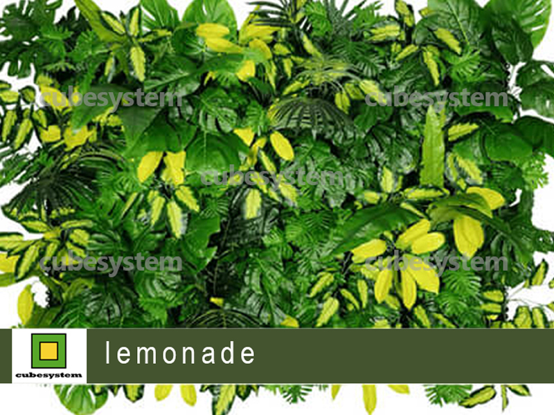 ARTIFICIAL GREENWALL LEMONADE BY CUBESYSTEM 1 - Artificial Green Wall