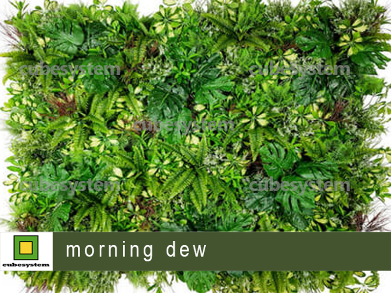 ARTIFICIAL GREENWALL MORNING DEW BY CUBESYSTEM 1 - Artificial Green Wall