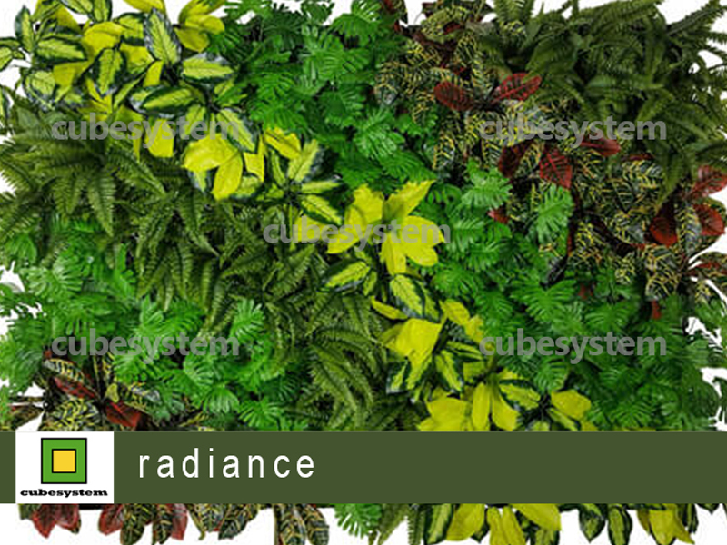 ARTIFICIAL GREENWALL RADIANCE BY CUBESYSTEM 1 - Artificial Green Wall