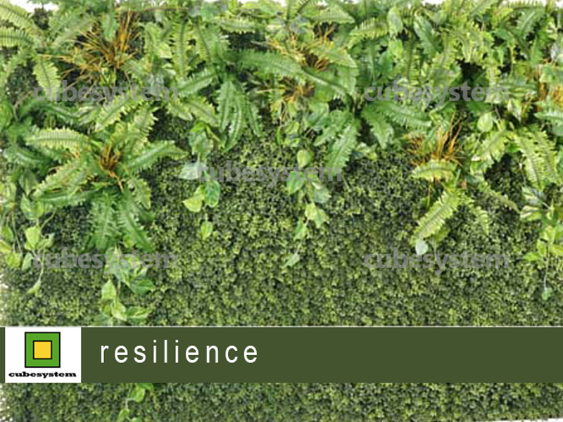 ARTIFICIAL GREENWALL RESILIENCE BY CUBESYSTEM 1 - Artificial Green Wall
