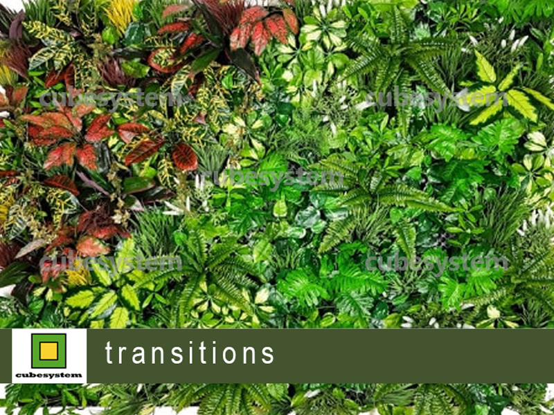 ARTIFICIAL GREENWALL TRANSITIONS BY CUBESYSTEM 1 - Artificial Green Wall