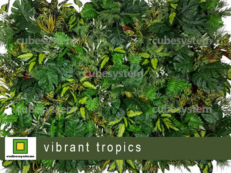 ARTIFICIAL GREENWALL VIBRANT TROPICS BY CUBESYSTEM 1 - Artificial Green Wall