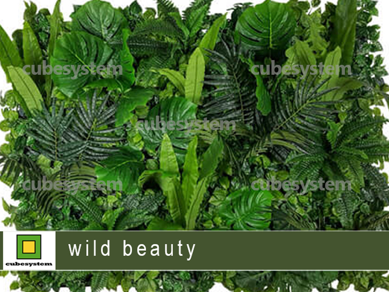 ARTIFICIAL GREENWALL WILD BEAUTY BY CUBESYSTEM 1 - Artificial Green Wall