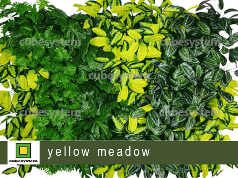 ARTIFICIAL GREENWALL YELLOW MEADOW BY CUBESYSTEM 1 - Artificial Green Wall